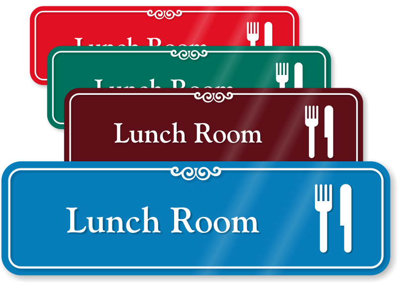 Lunch Room Hospital Showcase Sign Fork And Knife Symbol