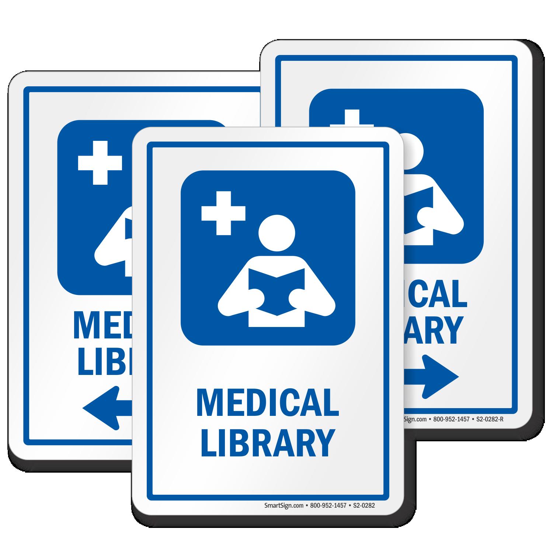 Medical Library Hospital Sign Reading Medicine Books Symbol Sku