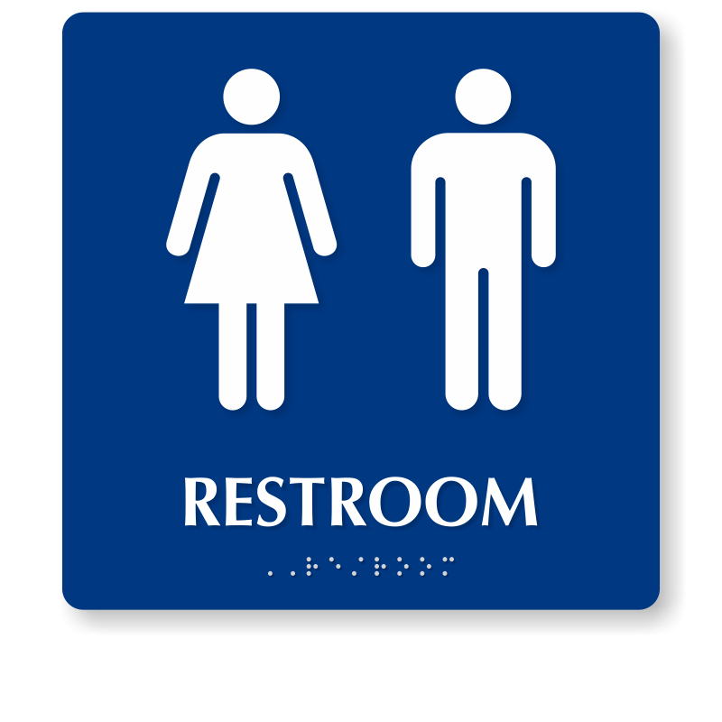 Men And Women Pictogram Braille Unisex Restroom Sign SKU SE48 Interesting Unisex Bathroom Signs