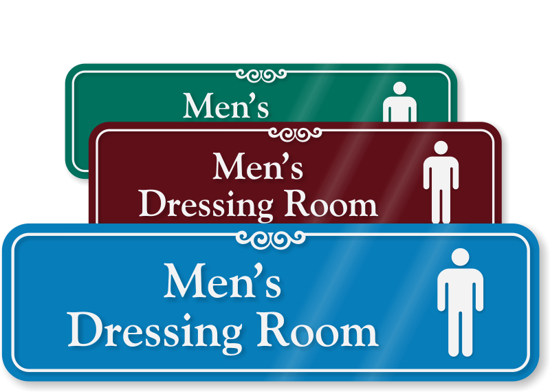 ShowCase Restroom Signs Decorative Restroom Signs - Professional bathroom signs