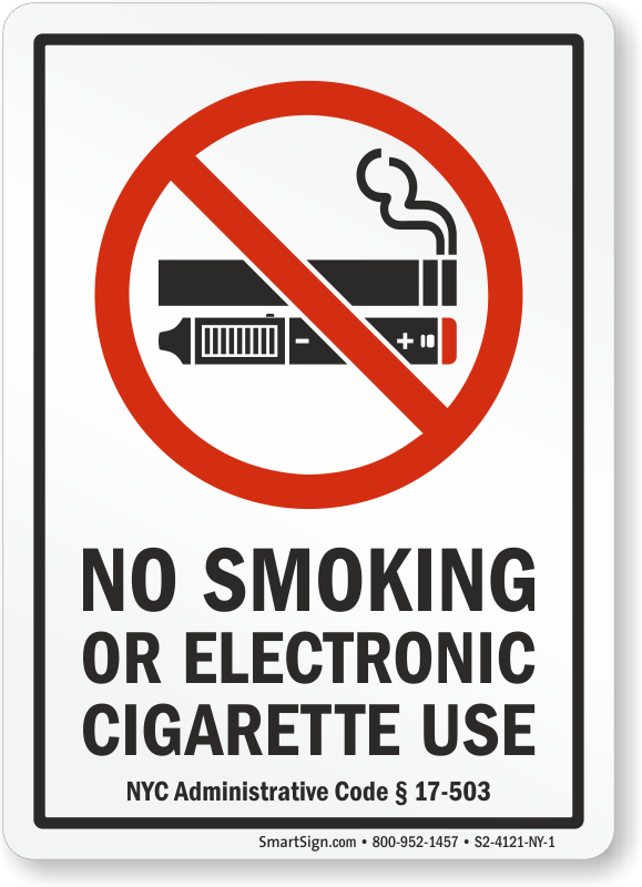 New York City No Smoking Sign, SKU: S2-4121-NY-1