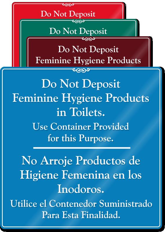 Feminine Hygiene Signs Do Not Deposit Sanitary Amp Trash