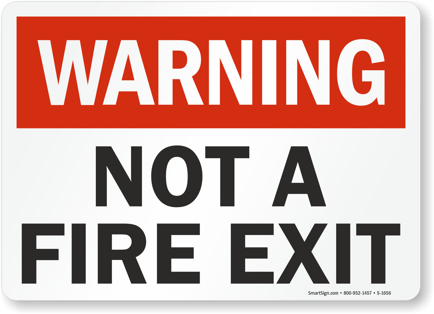 Not A Fire Exit Sign Fire And Emergency Warning Signs