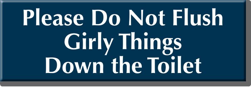 Bathroom Signs Please Do Not Flush feminine hygiene signs - do not deposit sanitary napkins, trash