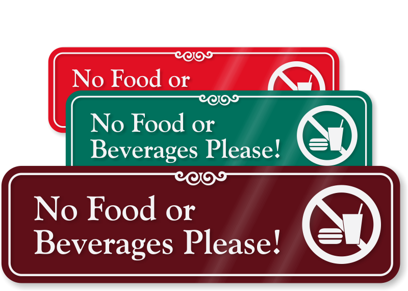 "image regarding No Food or Drink Signs Printable known as No Foodstuff Or Drinks ShowCaseâ""¢ Indicator - No Consuming Signal, SKU"