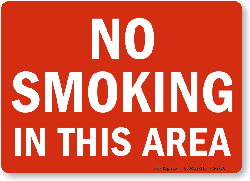 do not smoke in this area no smoking in this area signs