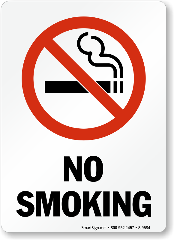 No Smoking Labels No Smoking Sku S 9584