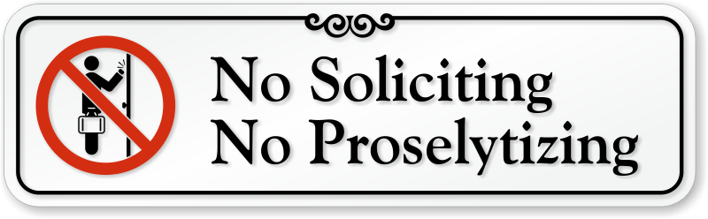 Attractive No Soliciting Signs   No Soliciting Decals OL06