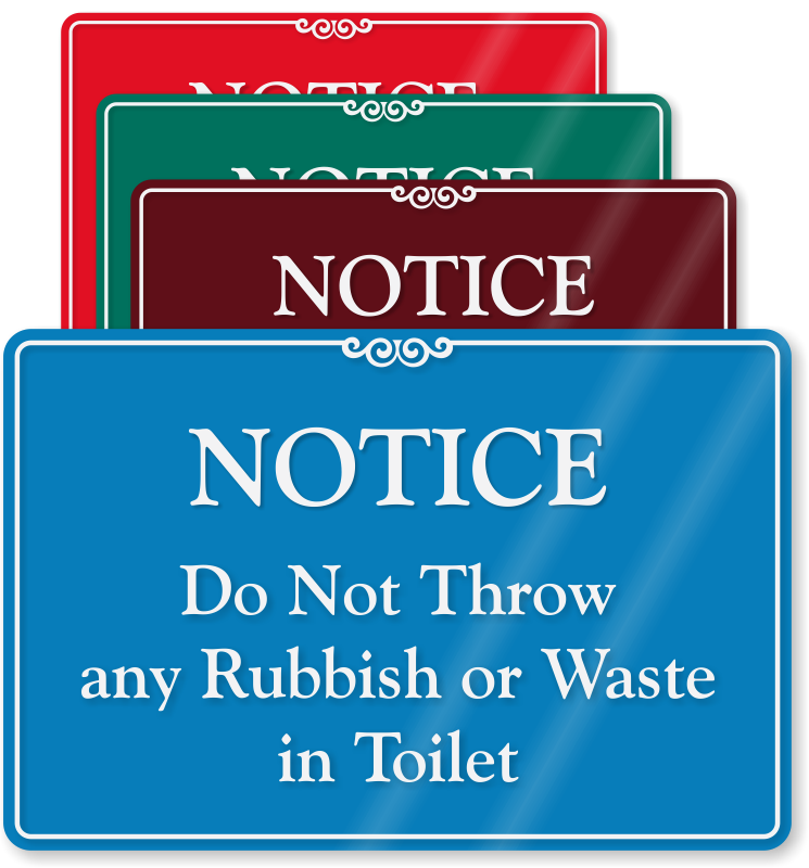 Bathroom Signs Toilet Paper Only no waste in toilet signs