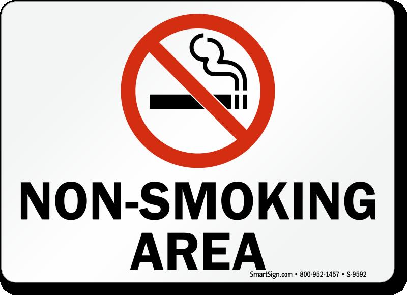 No Smoking Labels Non Smoking Area Sku S 9592