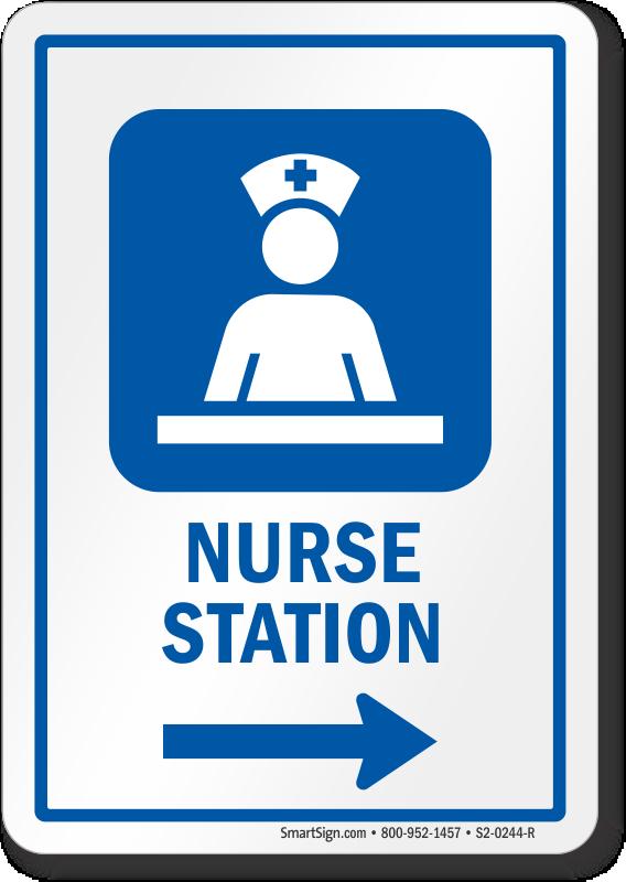 Nurse Station Area Right Arrow Sign Sku S2 0244 R