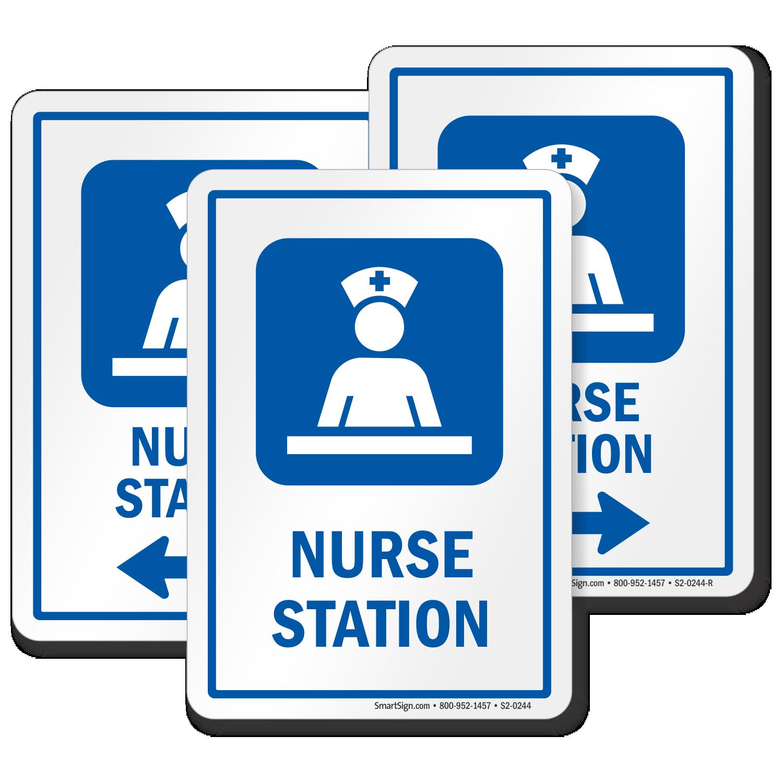 Nurse Station Hospital Care Staff Area Sign With Symbol Sku S2 0244