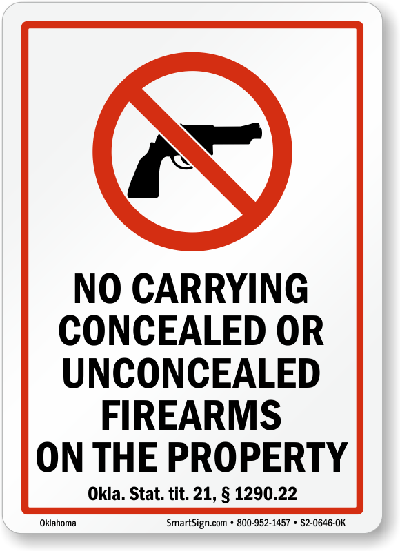 Lawfully Concealed Weapons Welcome Metal Sign