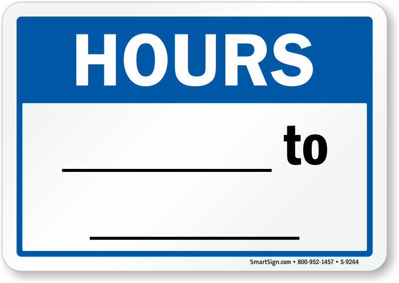 Business hours signs zoom price buy fbccfo Gallery