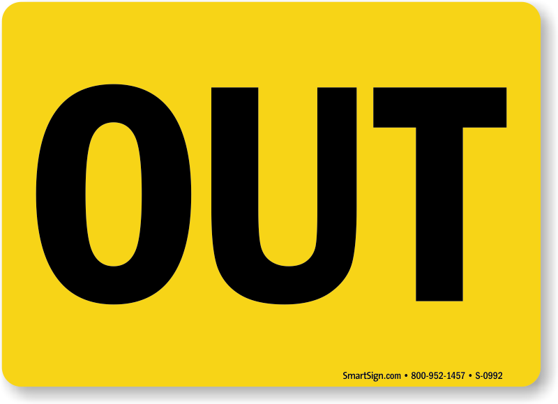 In And Out Signs From Mydoorsign
