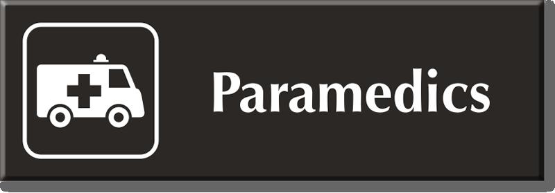Paramedics Signs Paramedics Door Signs