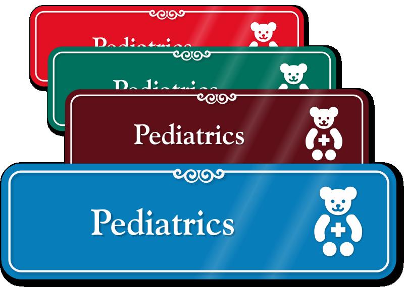 Pediatrics Signs Pediatrics Door Signs