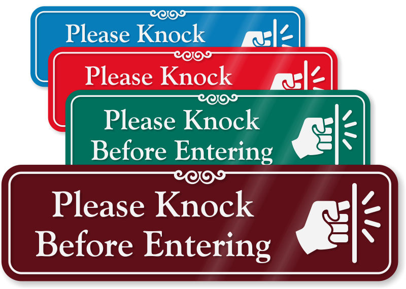 Please Knock Signs From Mydoorsign