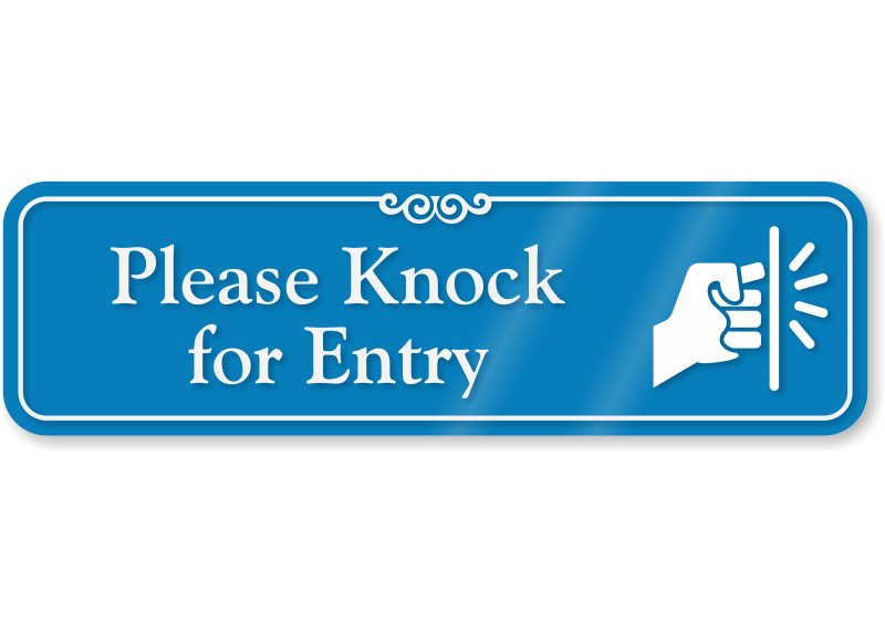 please knock for entry showcase wall sign ships free sku se 6180