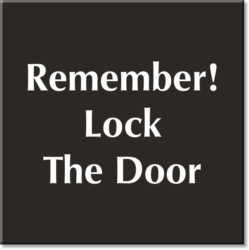 Zoom Price Buy  sc 1 st  MyDoorSign.com & Lock Door Signs | Keep Door Locked Signs