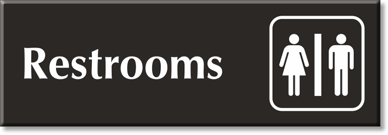 Bathroom Signs For Business restroom signs | bathroom signs