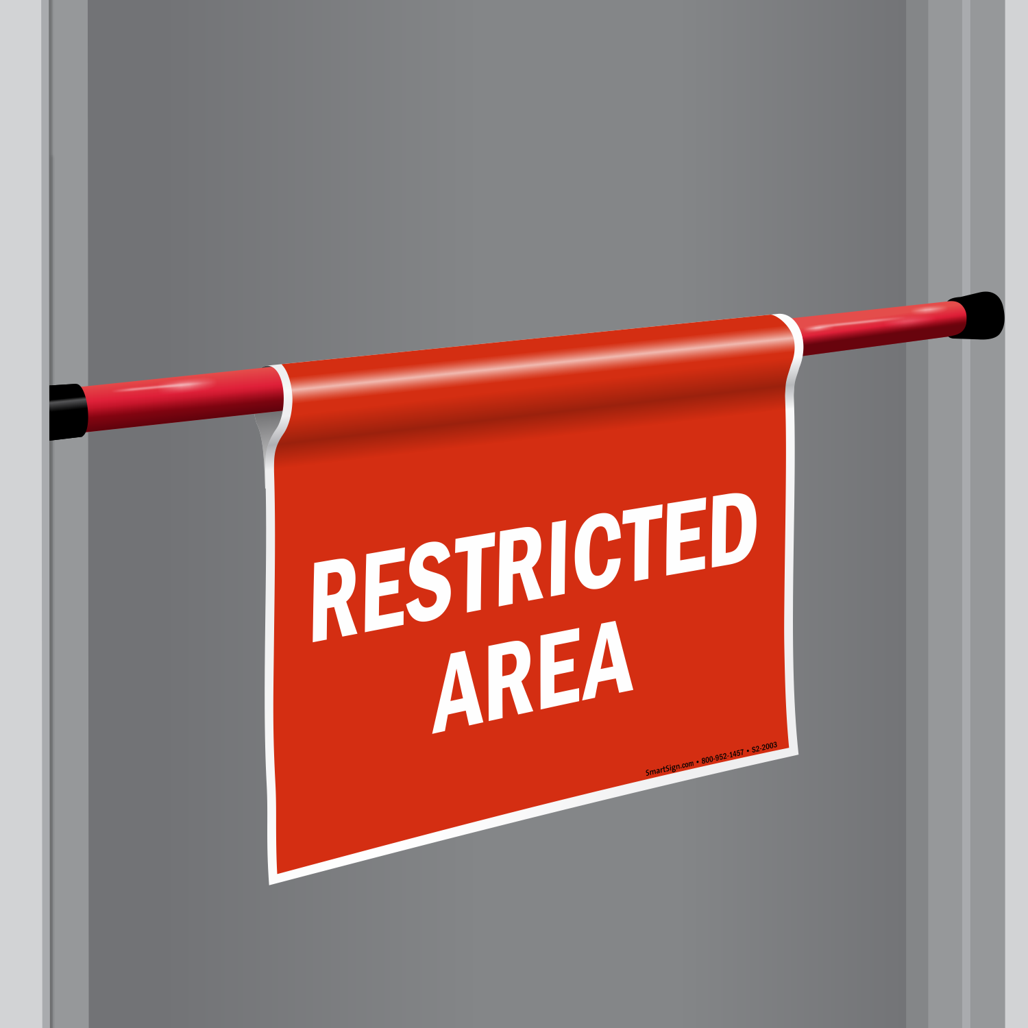 Door Barricade Sign--Restricted Area