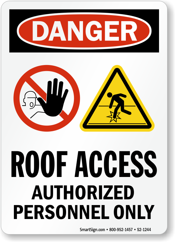 Roof Access Signs Photoluminescent Signs Amp Emergency Signs