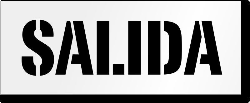 Bilingual Exit Signs Salida Signs