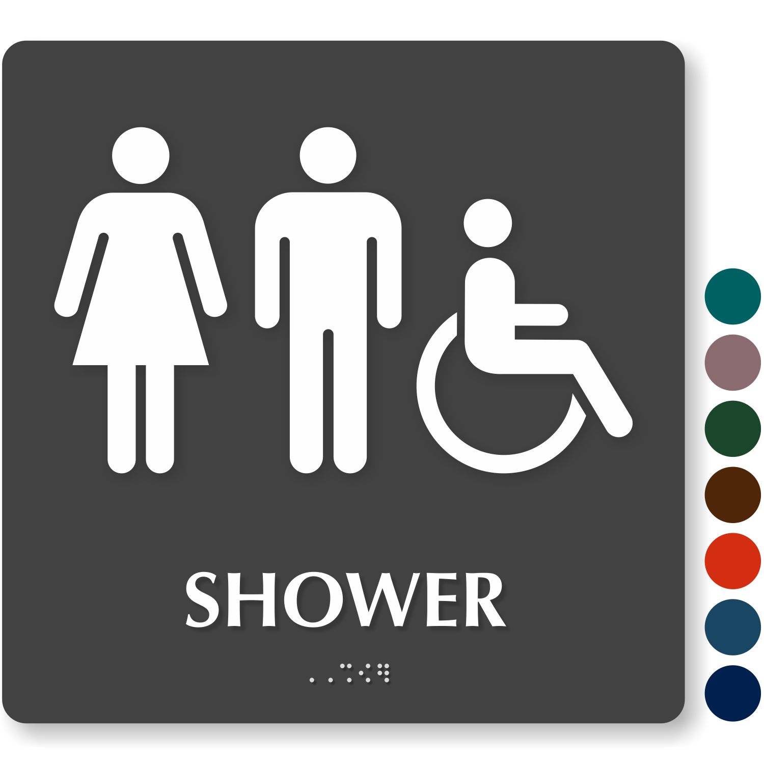 Bathroom Signs Braille shower room signs
