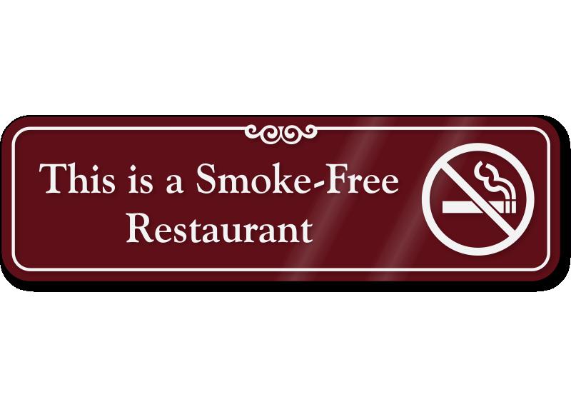This Is Smoke Free Restaurant Showcase Wall Sign Sku Se 5994