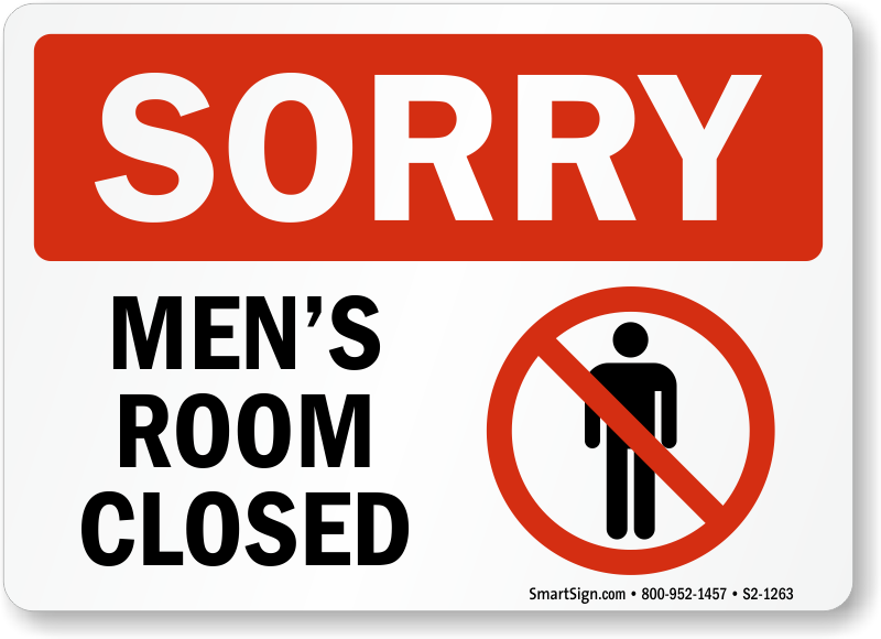 Restroom Closed For Cleaning Signs
