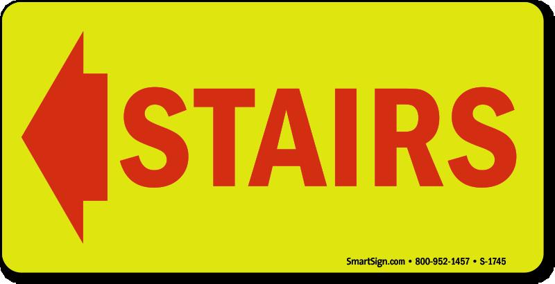 Attirant Stairs Sign