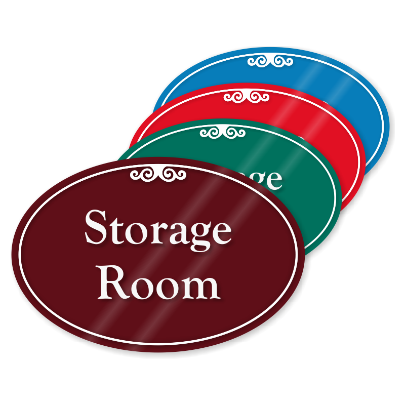 Storage room signs and stock room signs at best price for Storage room sign