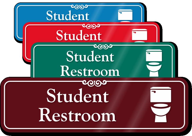 Bathroom Signs Edmonton school signs - school door signs