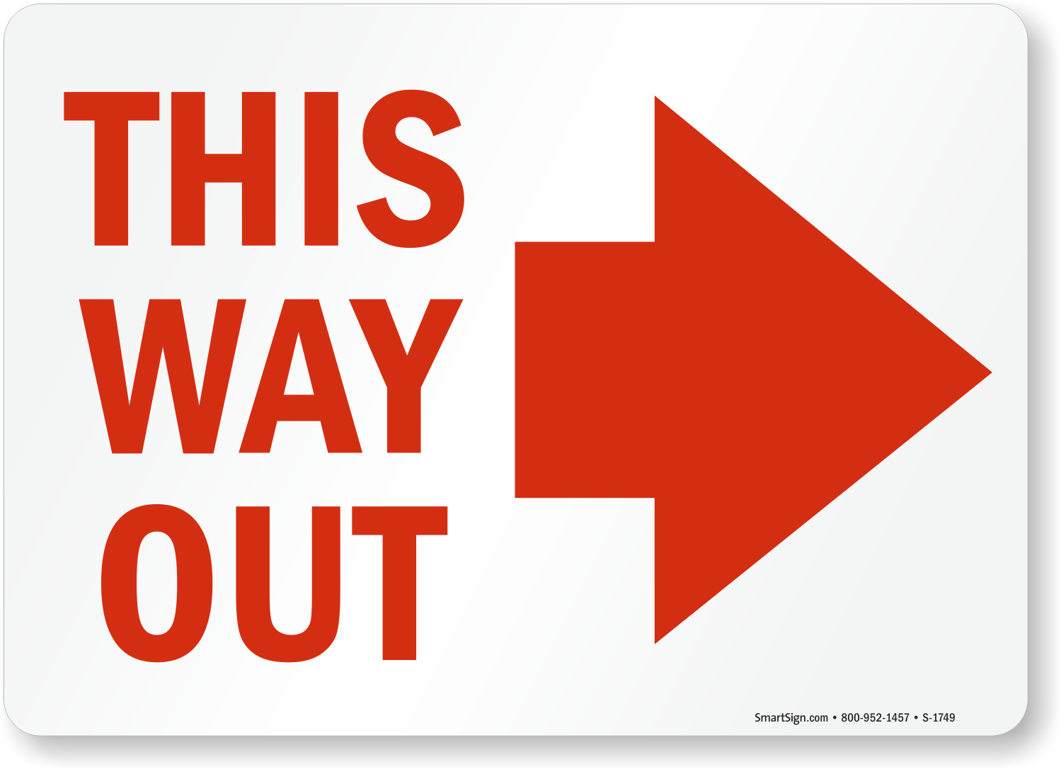 This Way Out Signs With Arrows Fire And Emergency Signs
