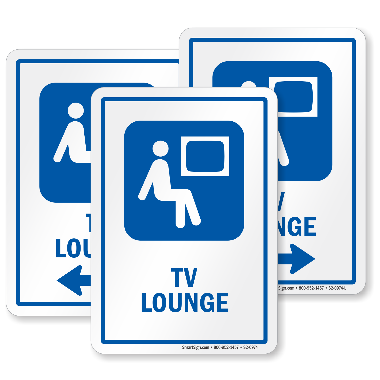 Tv Lounge Sign Man Watching Television Symbol Sku S2 0974