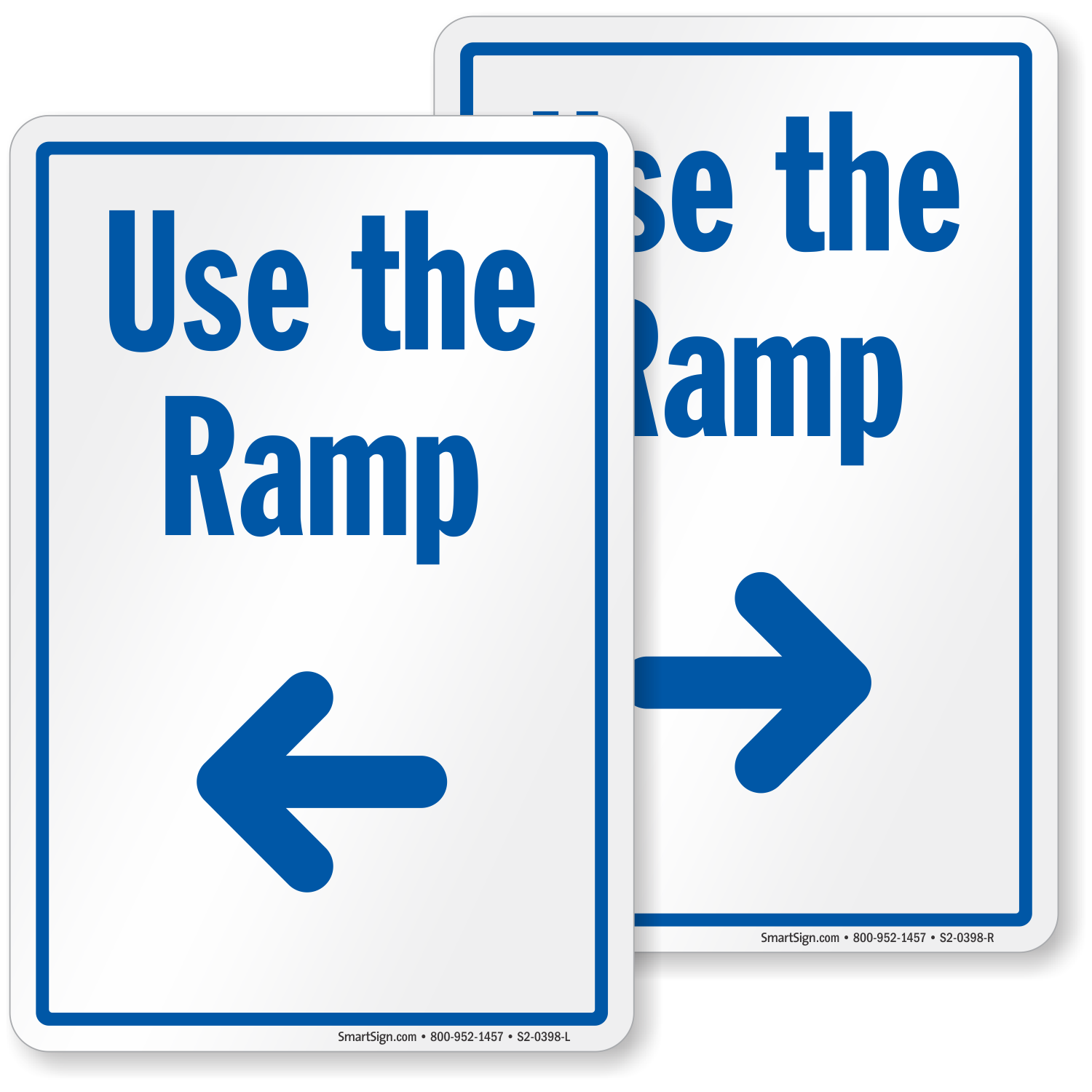 Use The Ramp Sign With Left Arrow Free Shipping Sku S2
