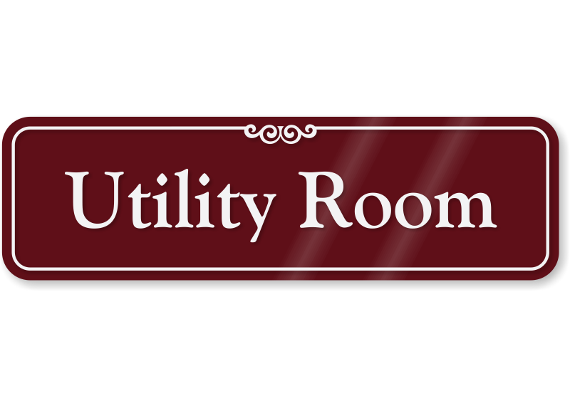 Utility Room With Graphic ShowCaseTM Wall Sign