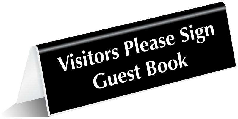 visitor door signs. Black Bedroom Furniture Sets. Home Design Ideas