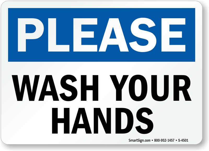 Please Wash Your Hands Hygiene Sign Sku S 4501