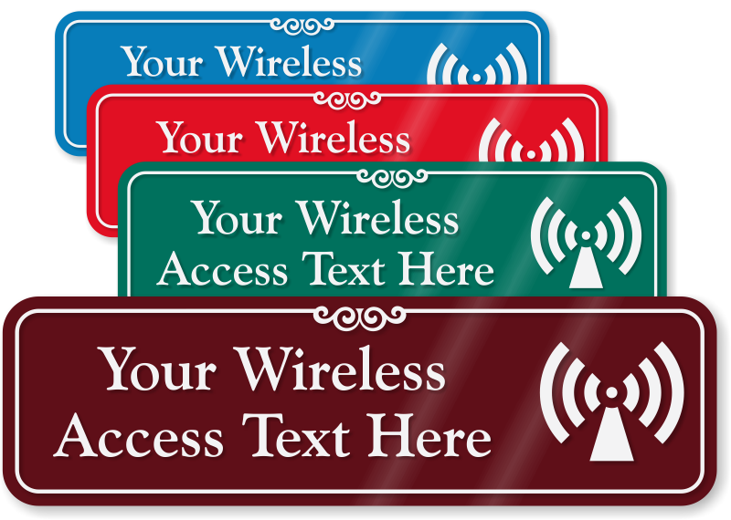 Wifi Signs Labels
