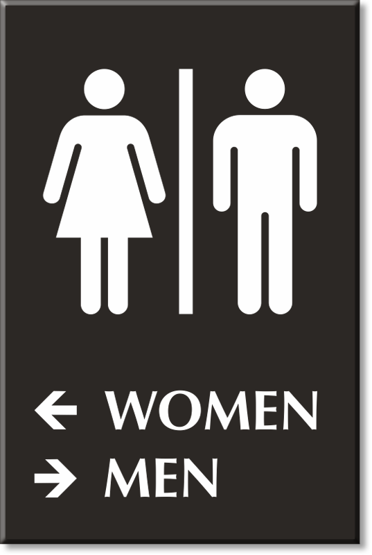 Directional Bathroom Signs Directional Restroom Signs