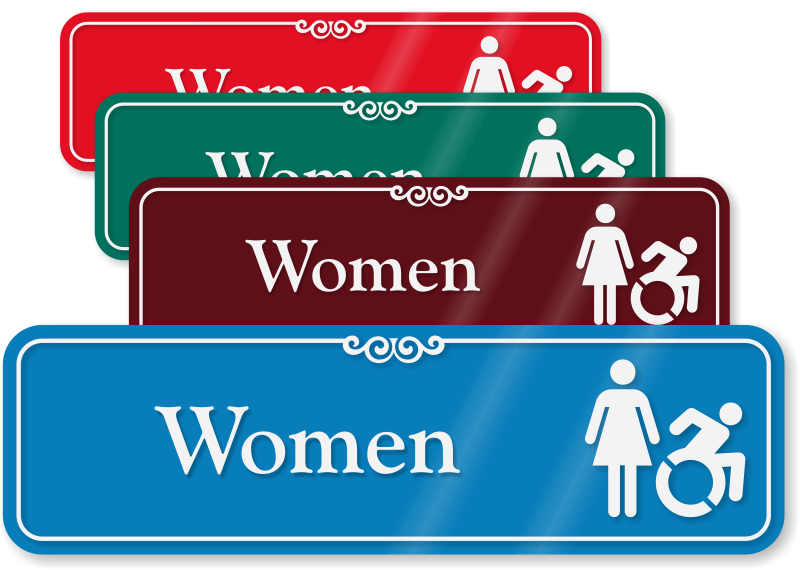 Accessible Restroom Signs - Commercial bathroom signs