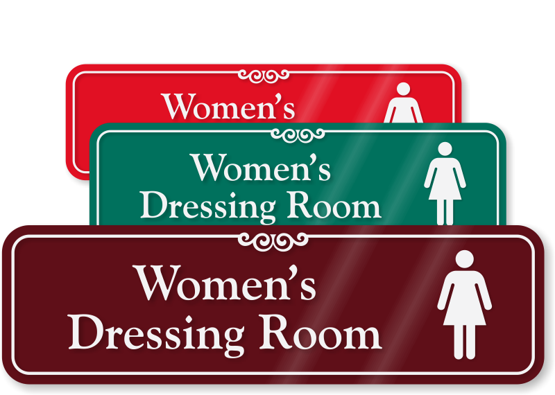 Dressing Room Signs Closet Signs