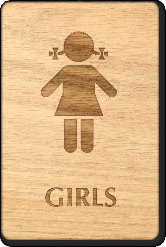Custom Girls Bathroom Signs