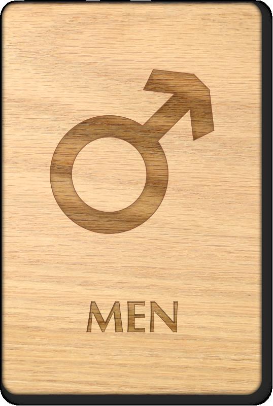 Wooden Bathroom Signs