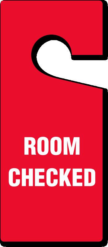 Room Checked Door Hang Tag Free Shipping Sku Tg 0978