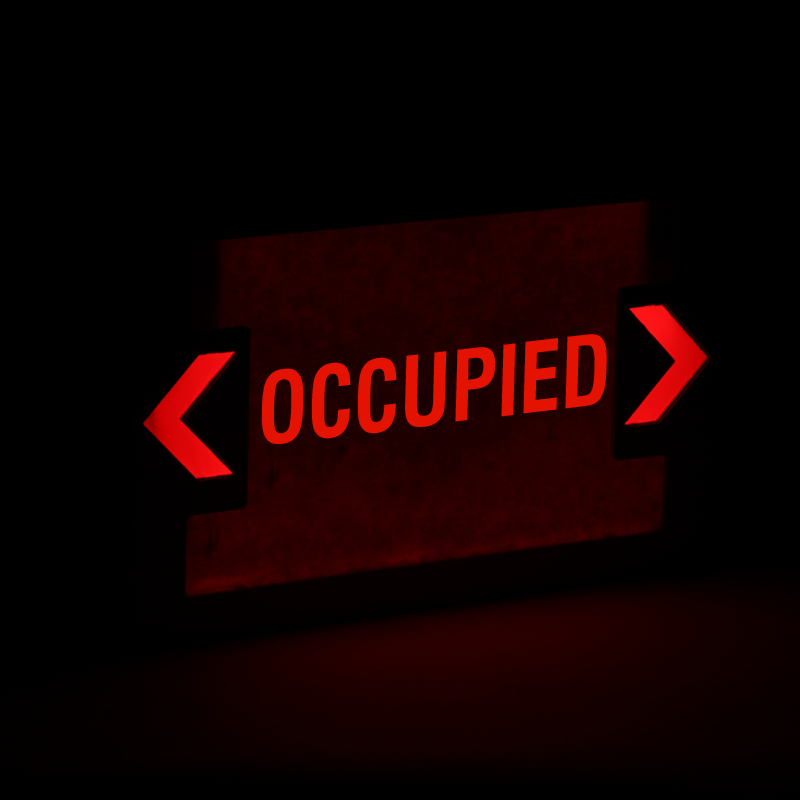 Occupied Led Exit Sign With Battery Backup Ships Fast