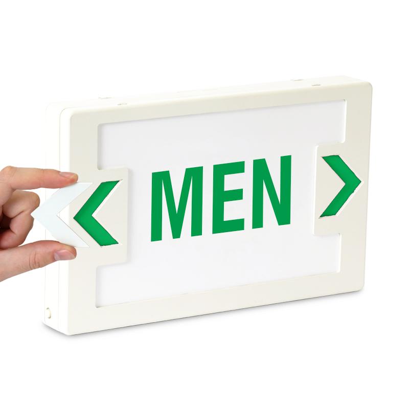 Men Led Sign With Battery Backup Sku Exit 1003
