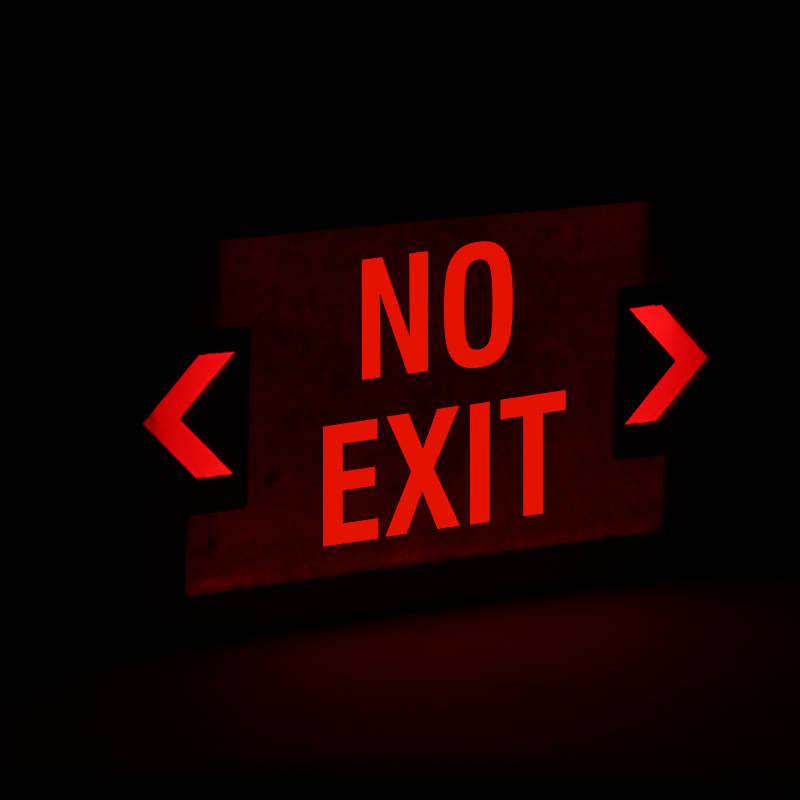 No Exit Led Exit Sign With Battery Backup Sku Exit 1012